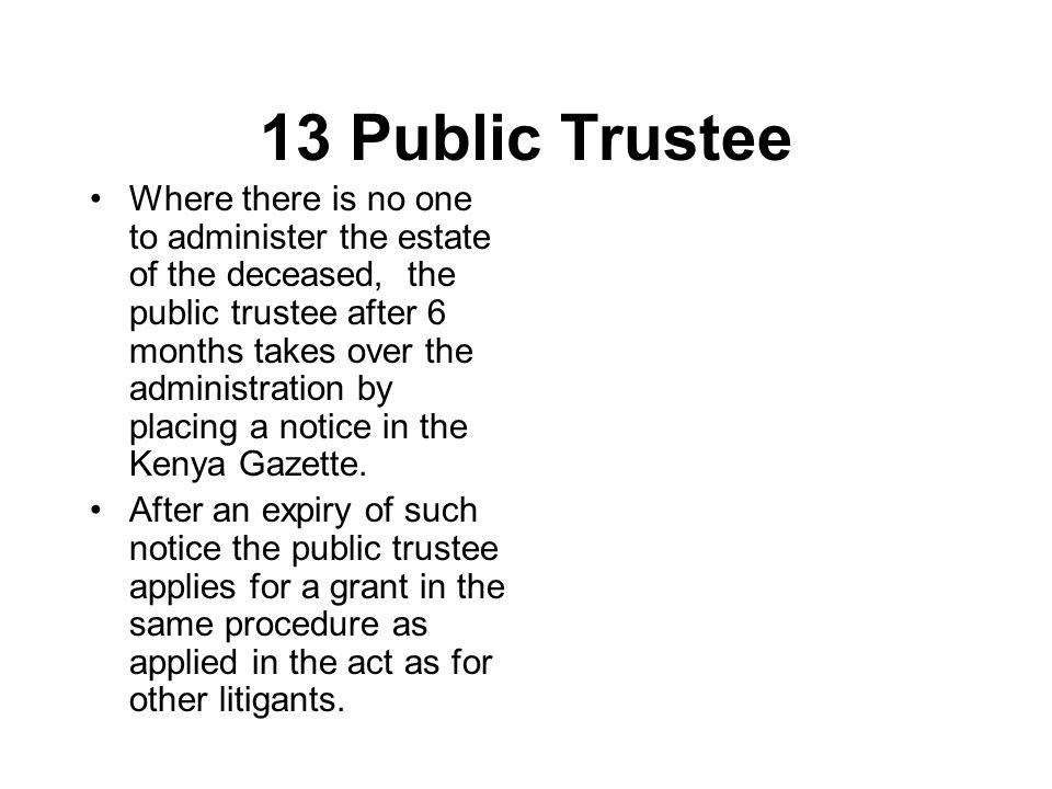 13 Public Trustee