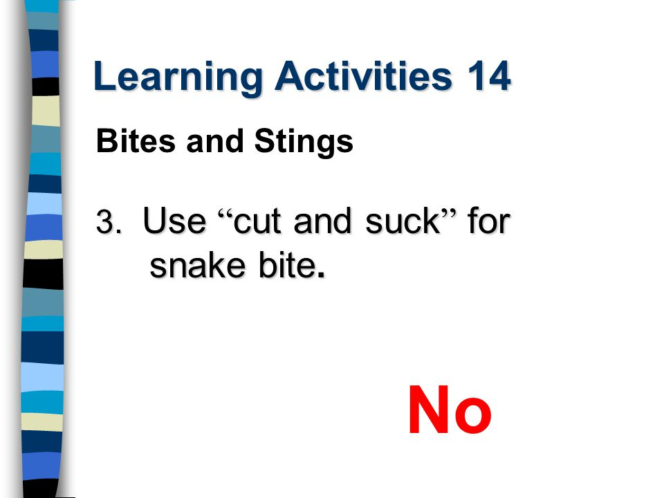 No Learning Activities 14 Bites and Stings