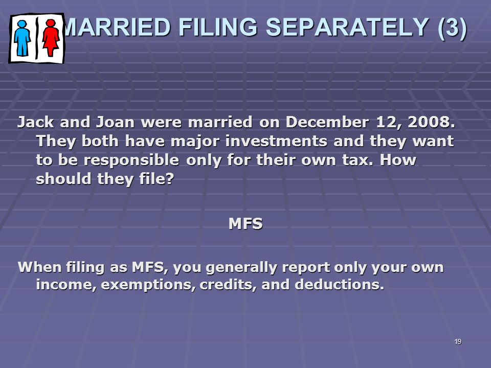 MARRIED FILING SEPARATELY (3)