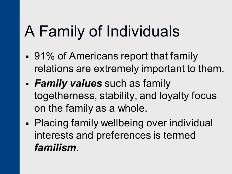 A Family of Individuals