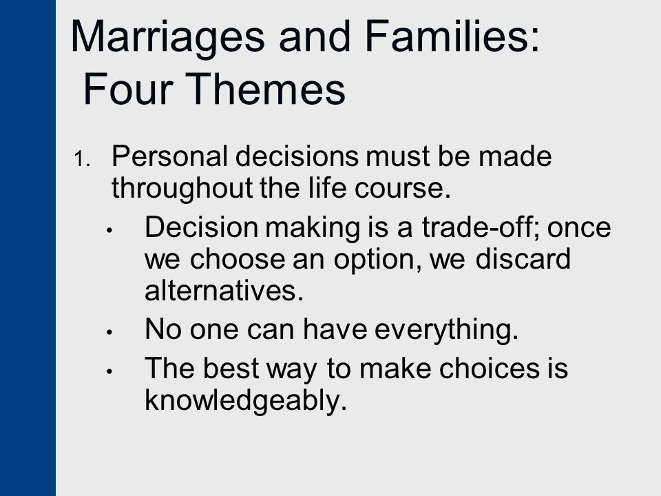 Marriages and Families: Four Themes