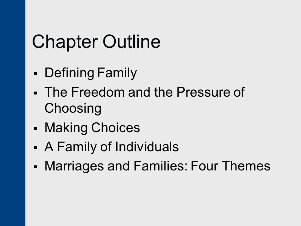 Chapter Outline Defining Family