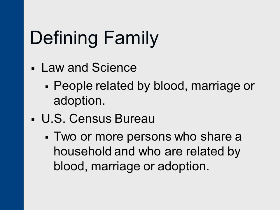 Defining Family Law and Science