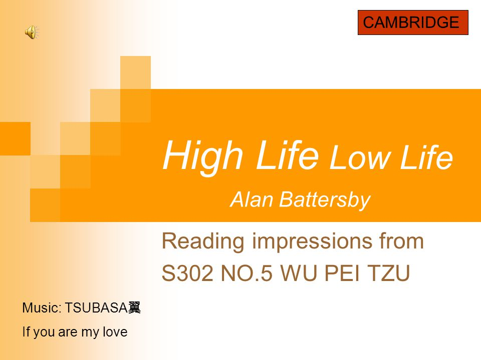 Reading impressions from S302 NO.5 WU PEI TZU