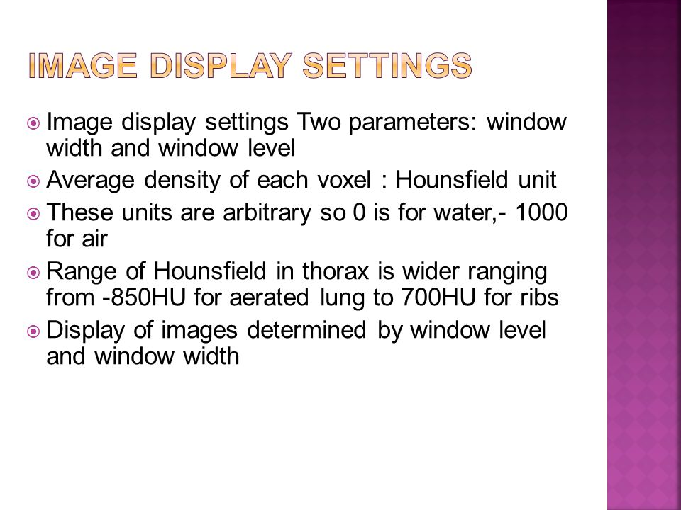 Image display settings