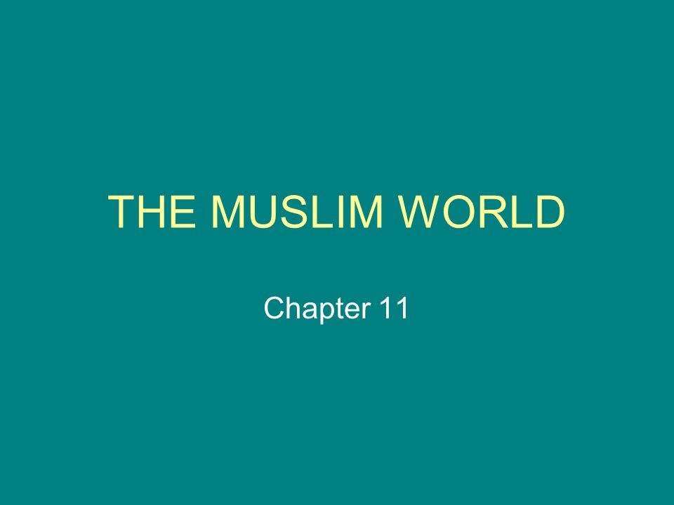 THE MUSLIM WORLD Chapter 11