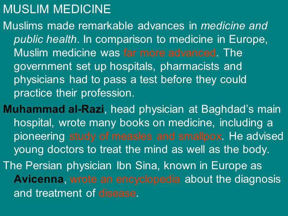 MUSLIM MEDICINE