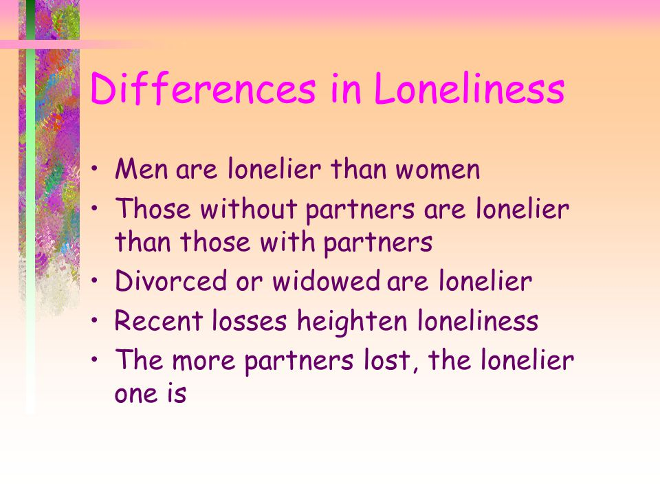 Differences in Loneliness