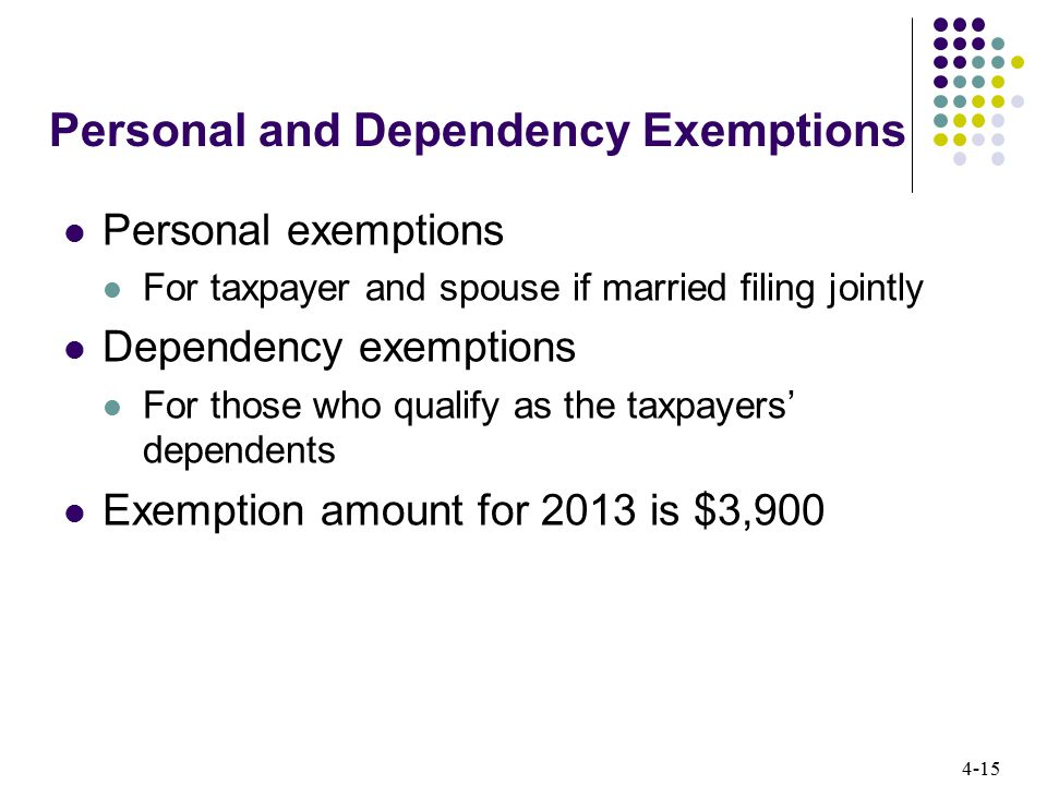 Personal and Dependency Exemptions
