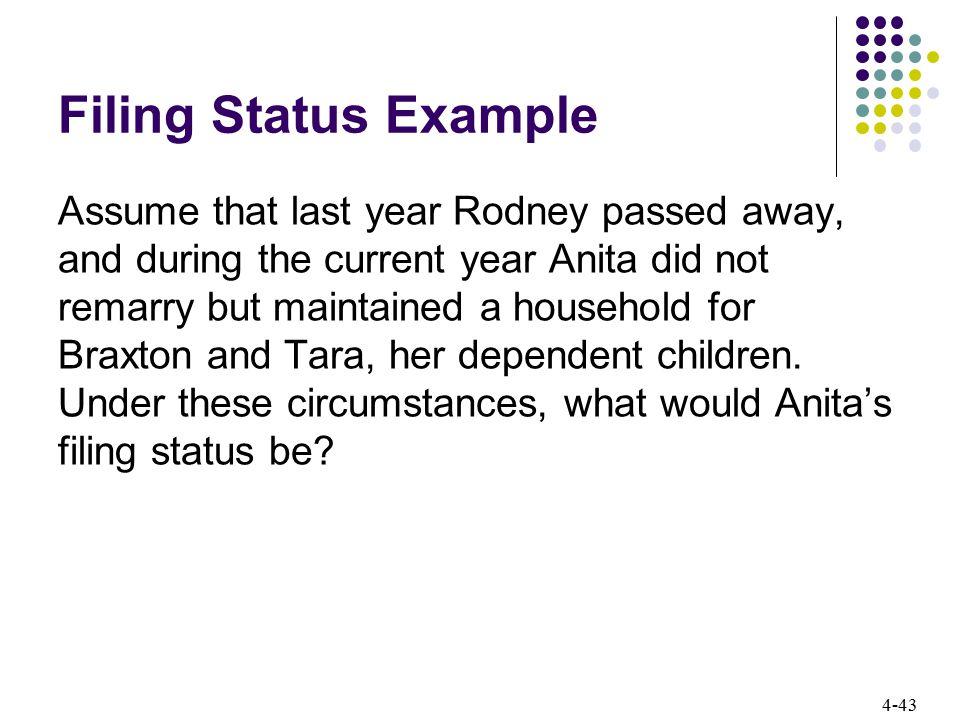 Filing Status Example