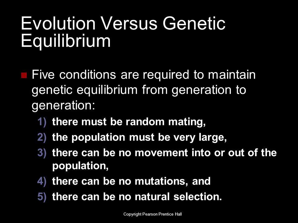 Evolution Versus Genetic Equilibrium