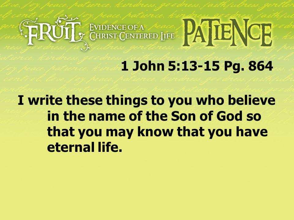 1 John 5:13-15 Pg.