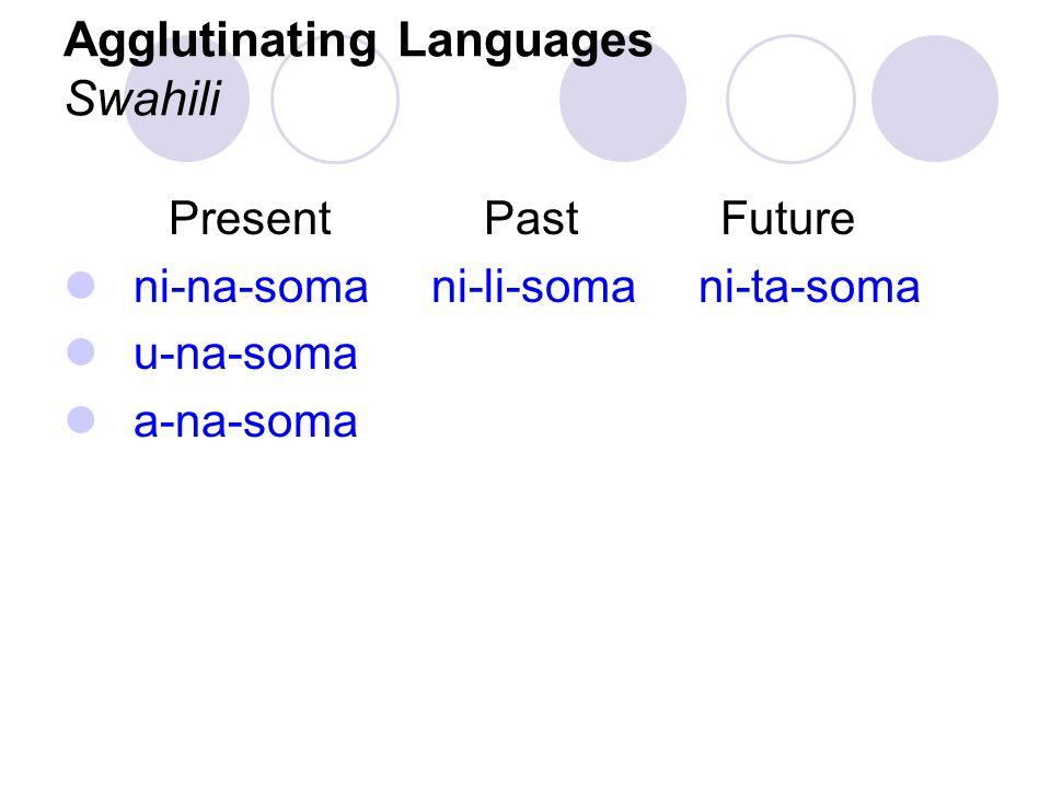 Agglutinating Languages Swahili