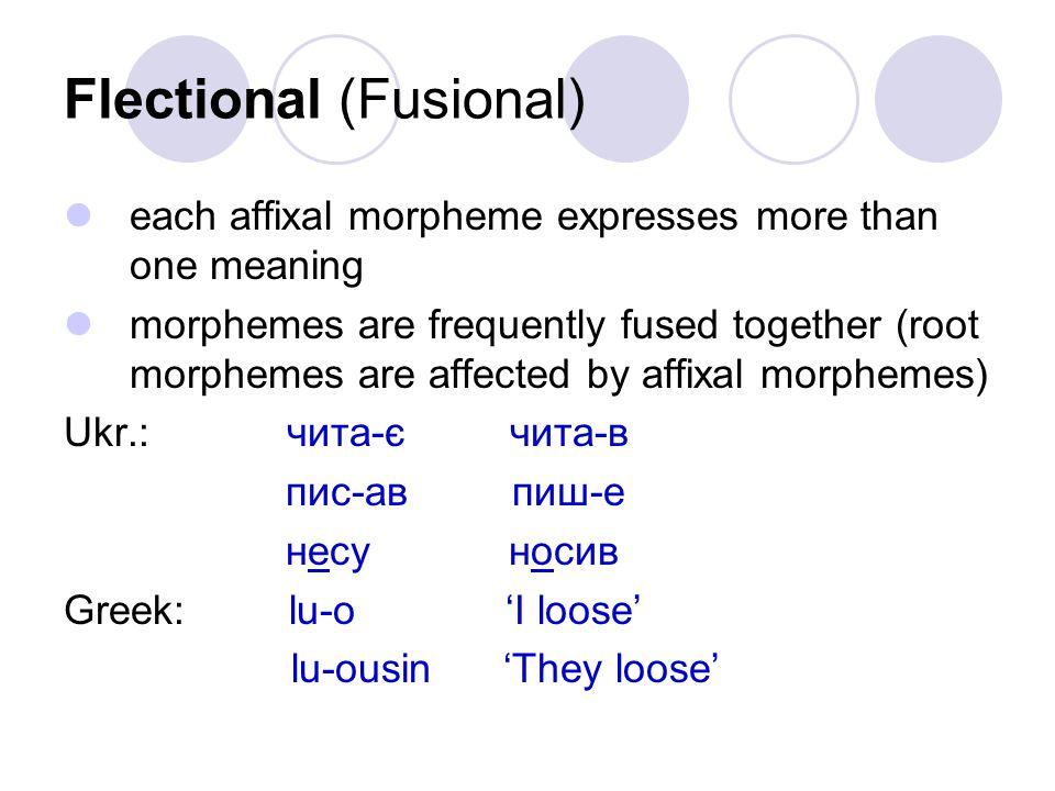 Flectional (Fusional)