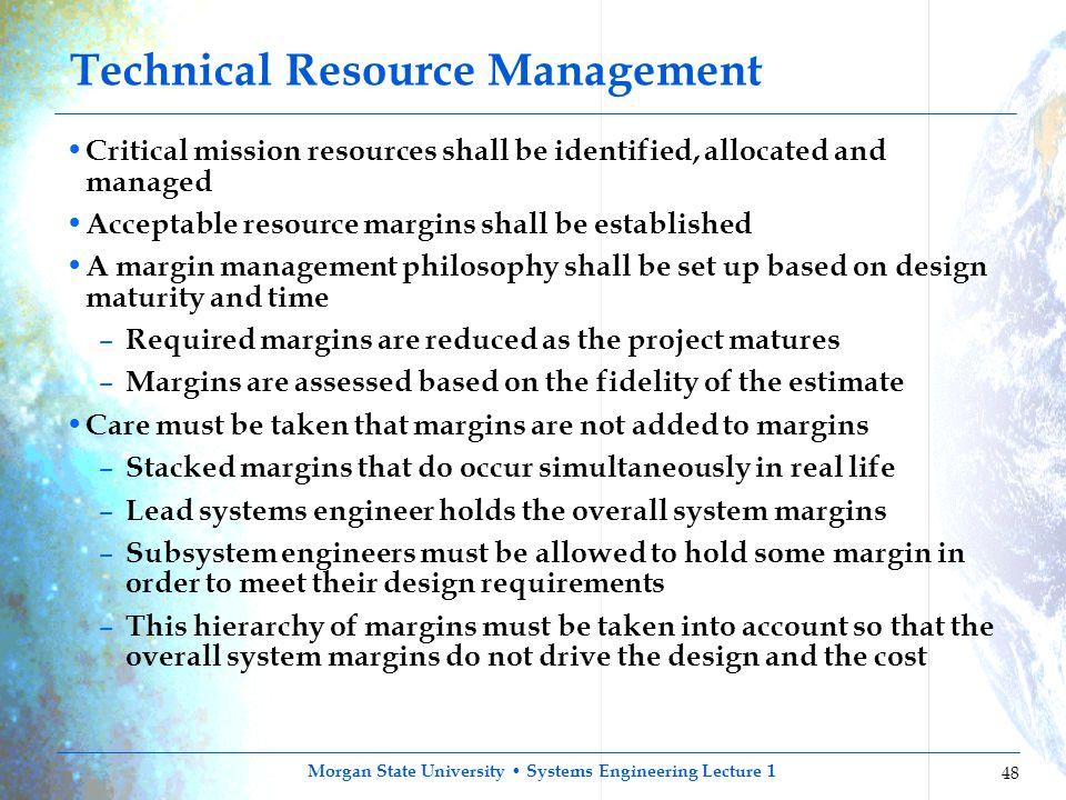 Technical Resource Management