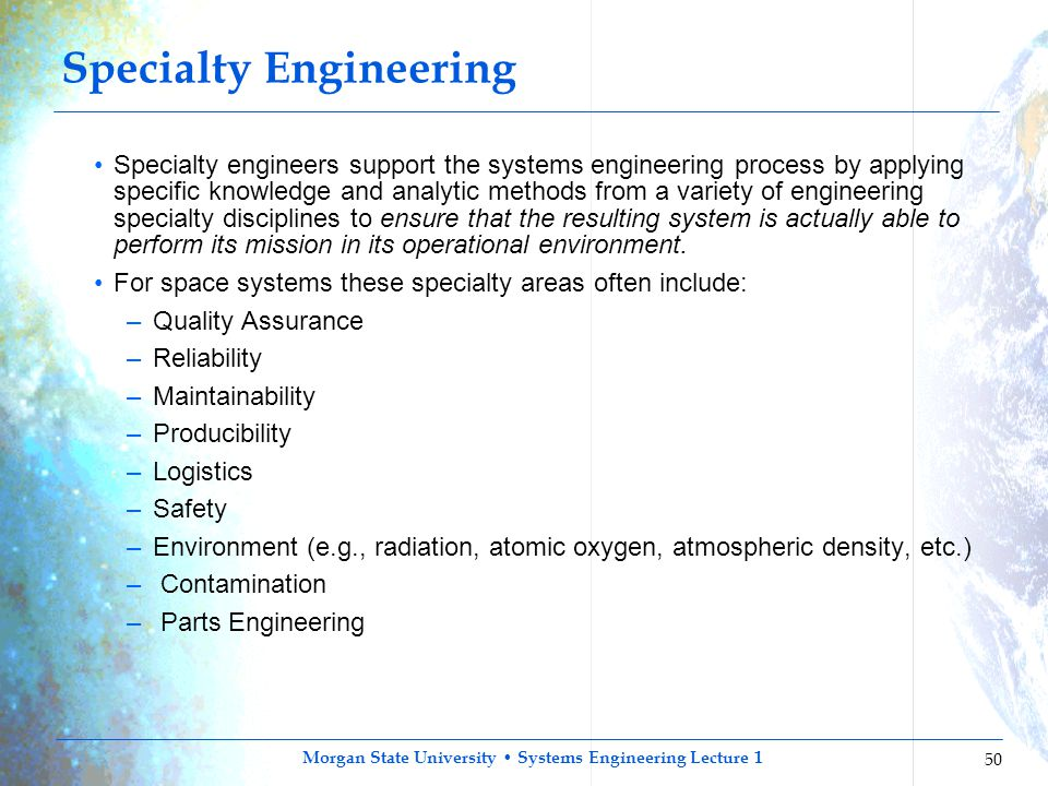 Specialty Engineering