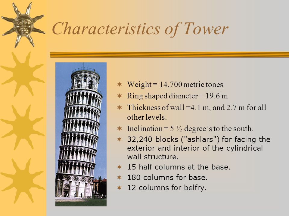 Characteristics of Tower