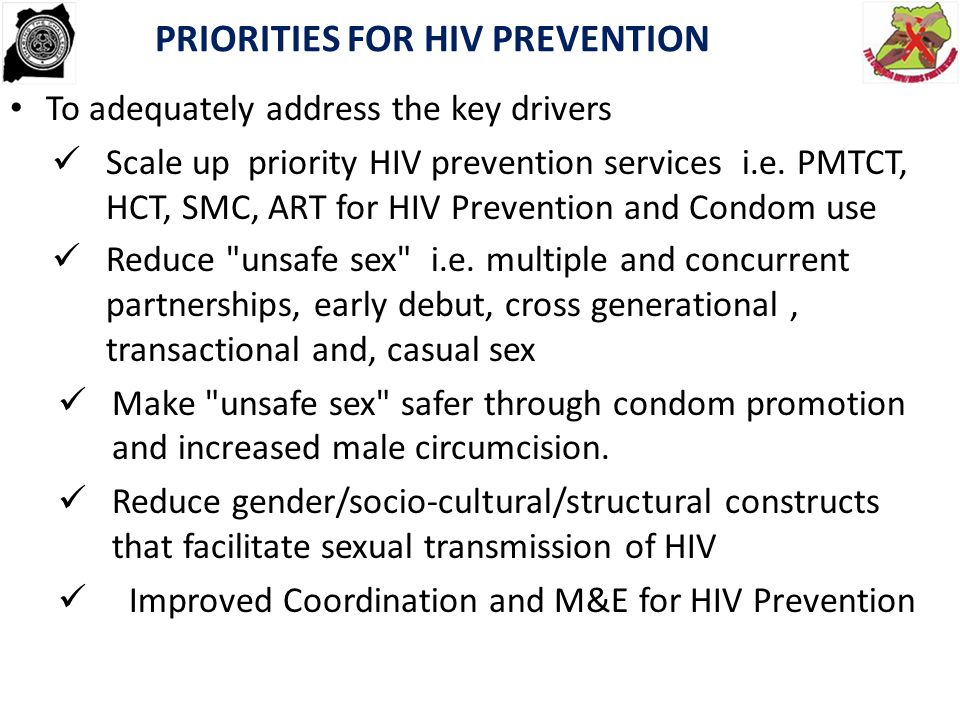 PRIORITIES FOR HIV PREVENTION