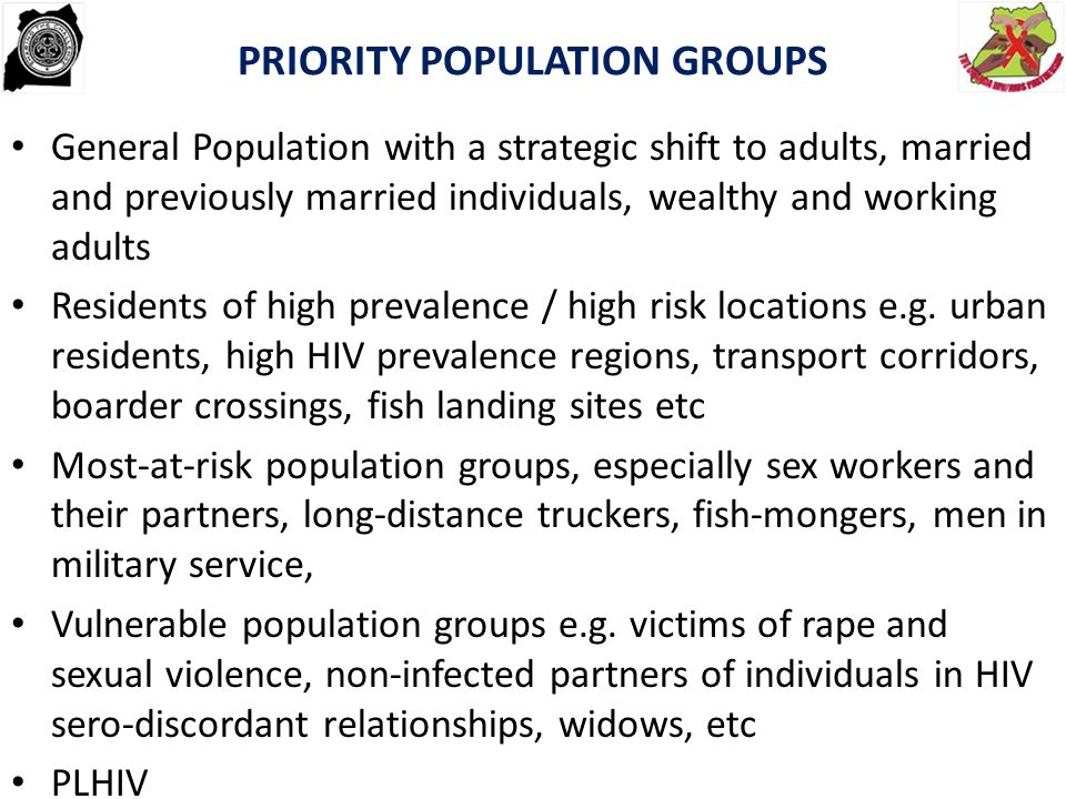 PRIORITY POPULATION GROUPS