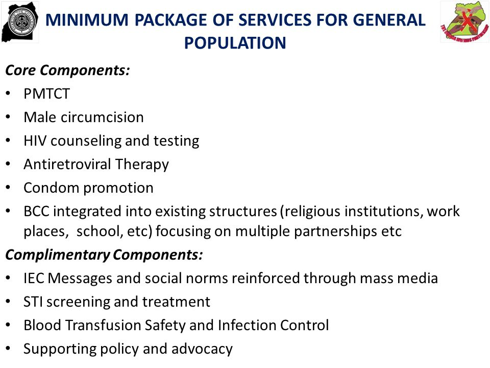 MINIMUM PACKAGE OF SERVICES FOR GENERAL POPULATION