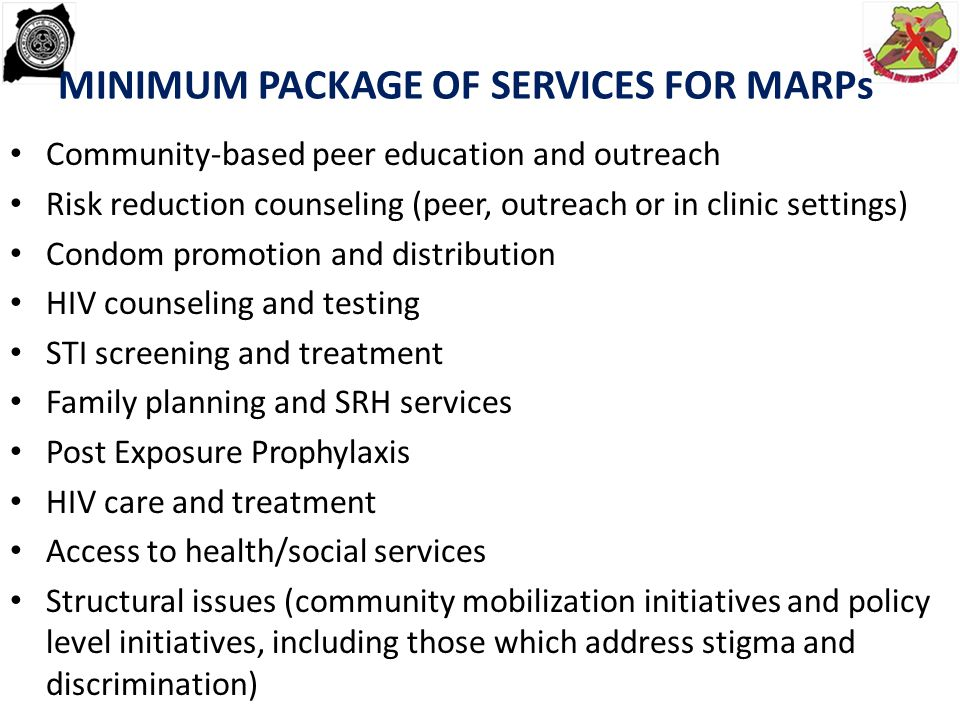 MINIMUM PACKAGE OF SERVICES FOR MARPs