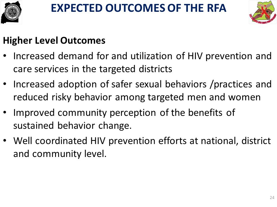 EXPECTED OUTCOMES OF THE RFA