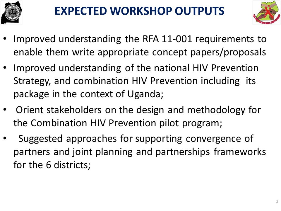 EXPECTED WORKSHOP OUTPUTS