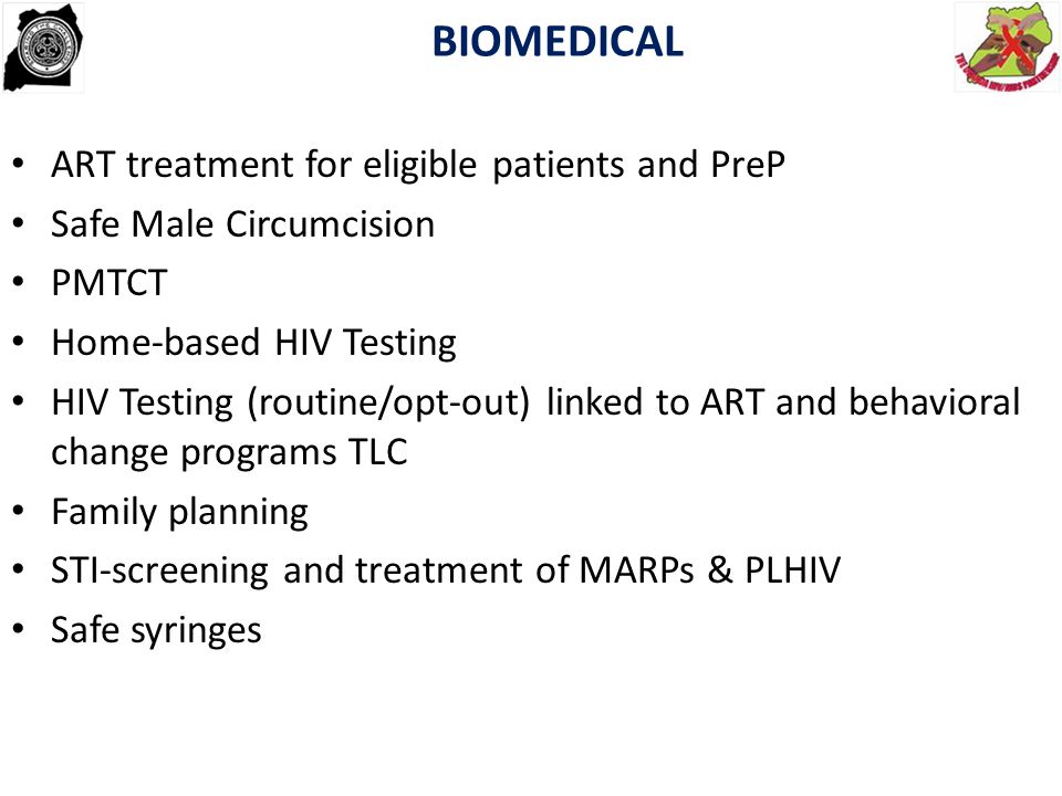 BIOMEDICAL ART treatment for eligible patients and PreP