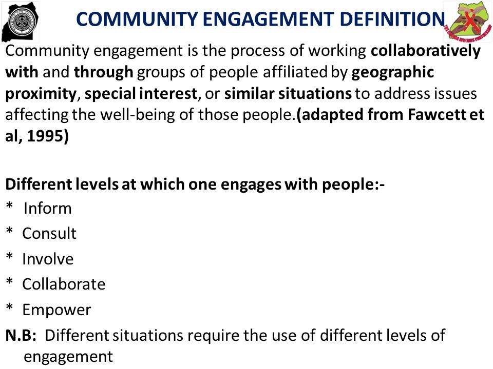 COMMUNITY ENGAGEMENT DEFINITION