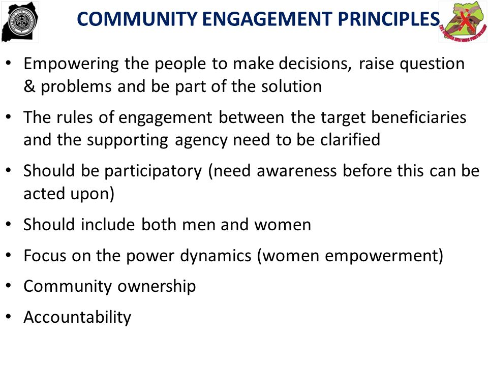 COMMUNITY ENGAGEMENT PRINCIPLES