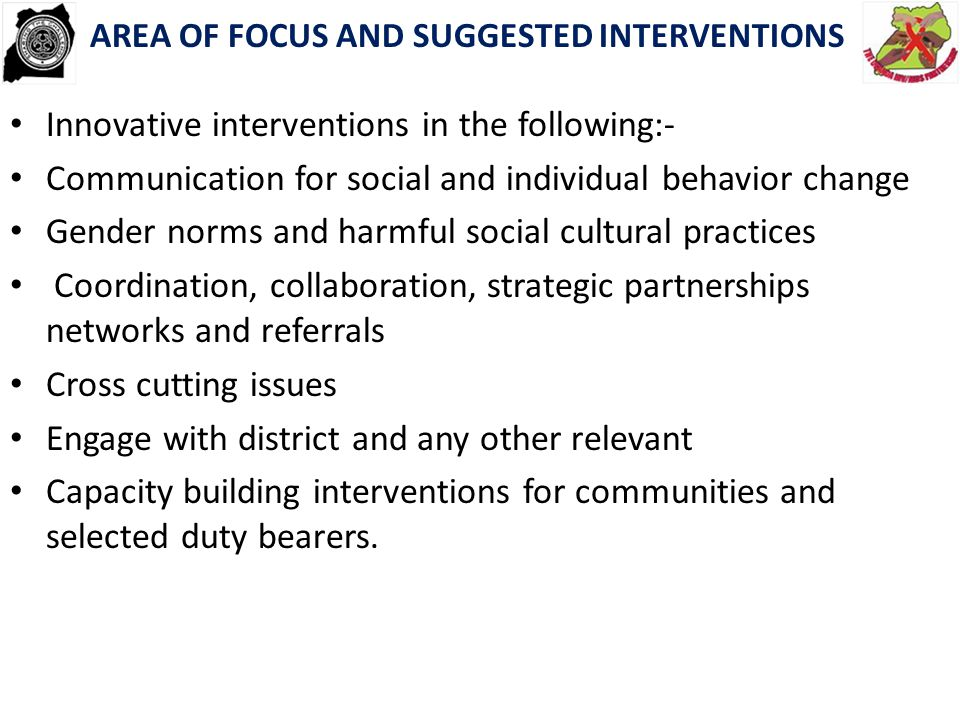 Innovative interventions in the following:-