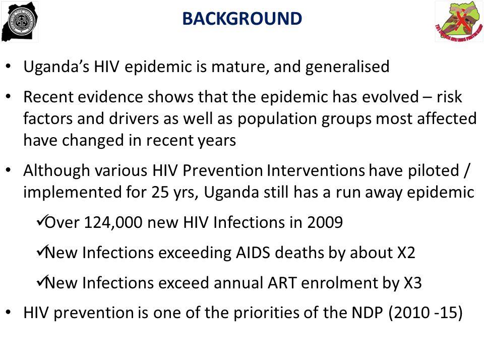 BACKGROUND Uganda's HIV epidemic is mature, and generalised