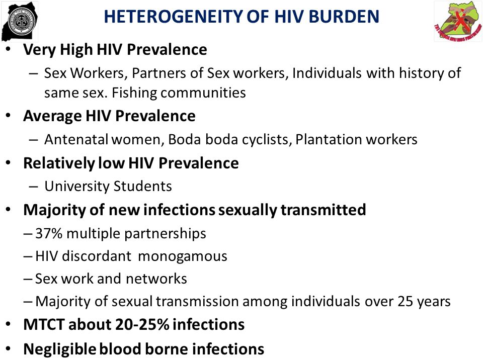 HETEROGENEITY OF HIV BURDEN