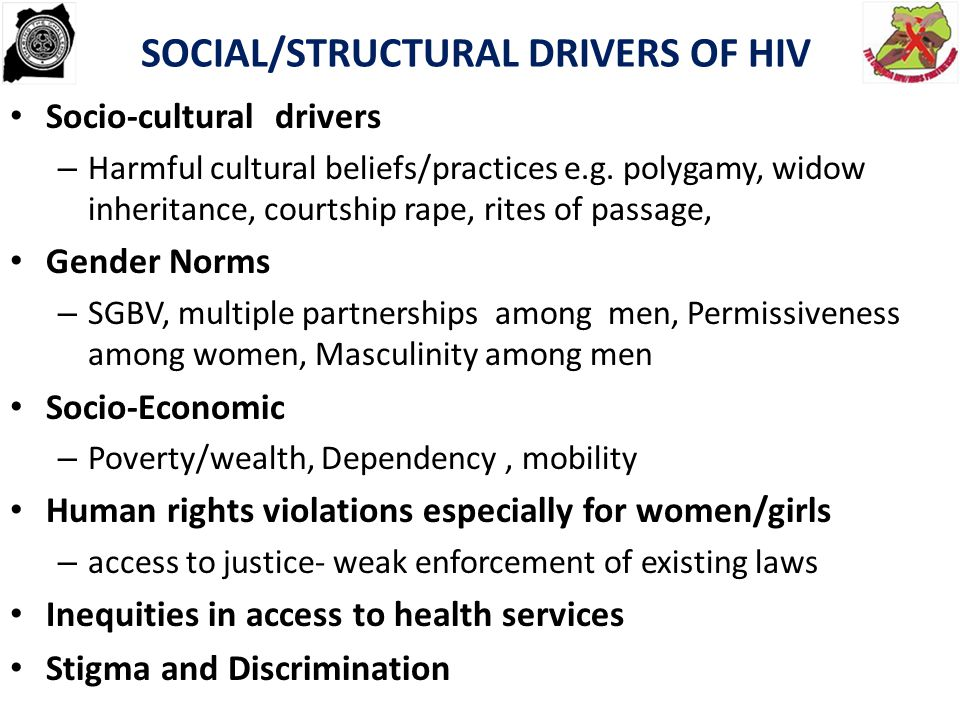 SOCIAL/STRUCTURAL DRIVERS OF HIV