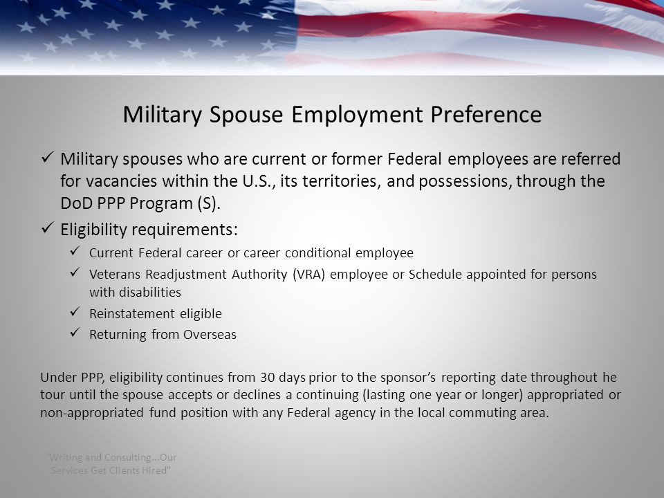 Military Spouse Employment Preference
