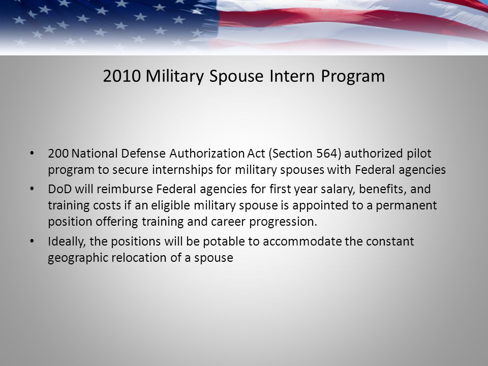 2010 Military Spouse Intern Program
