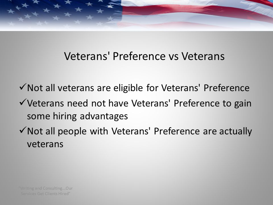Veterans Preference vs Veterans