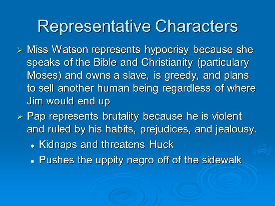 Representative Characters