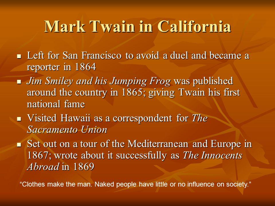 Mark Twain in California