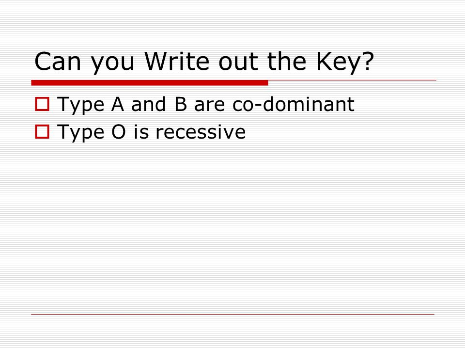 Can you Write out the Key