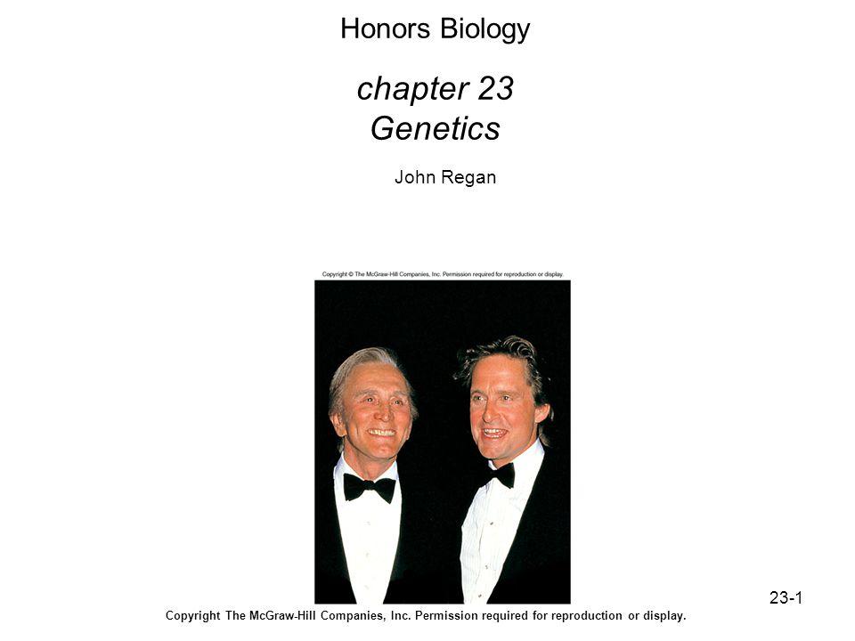 Honors Biology chapter 23 Genetics