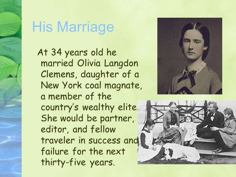 His Marriage