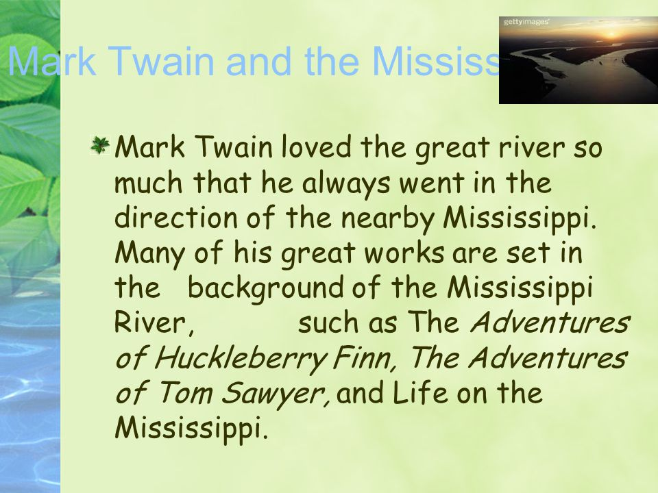 Mark Twain and the Mississippi
