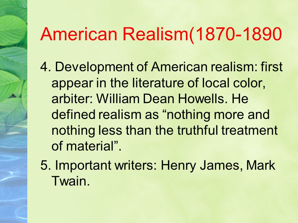 American Realism(1870-1890