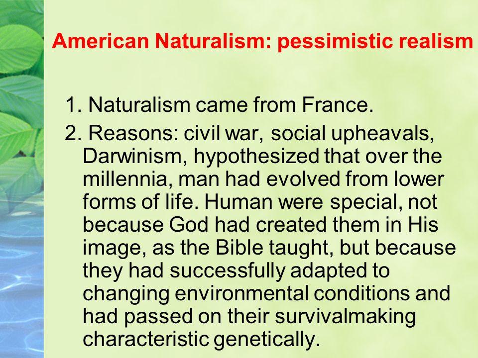 American Naturalism: pessimistic realism