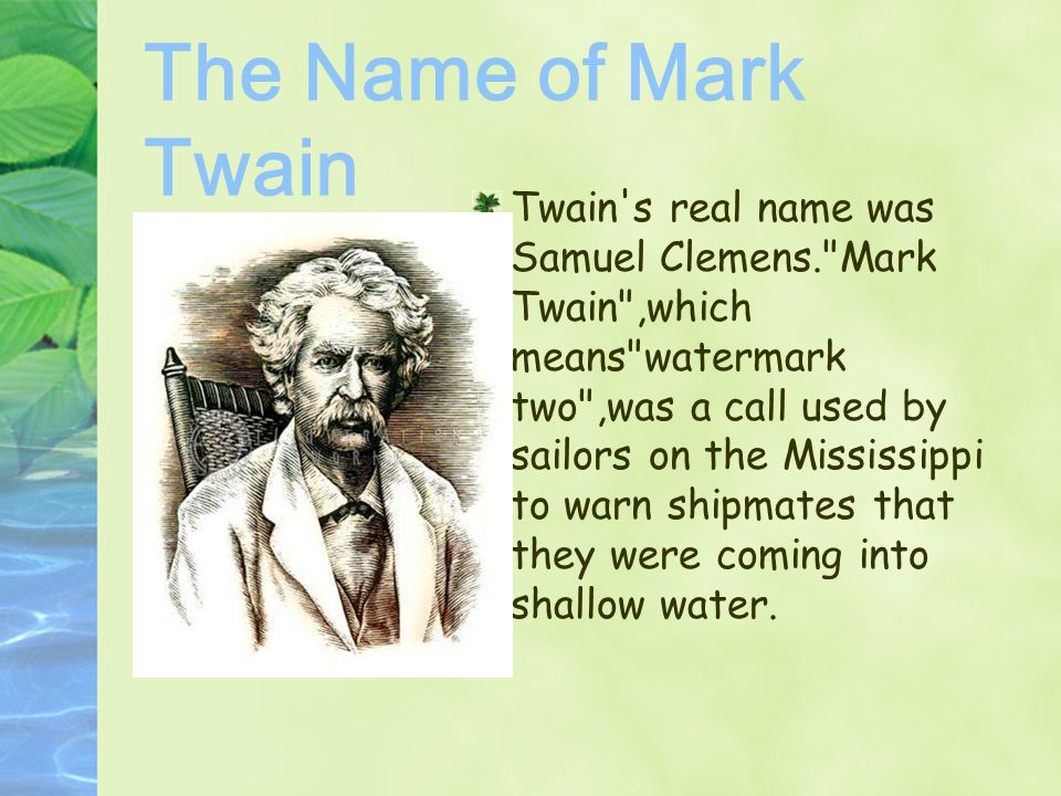 The Name of Mark Twain