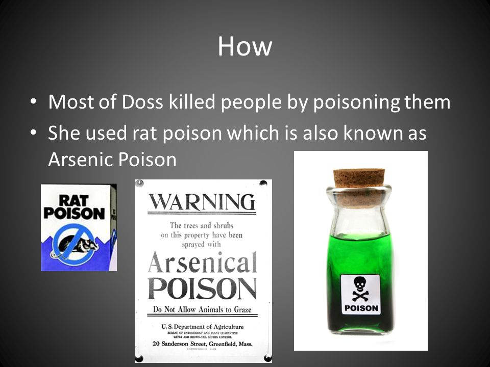 How Most of Doss killed people by poisoning them