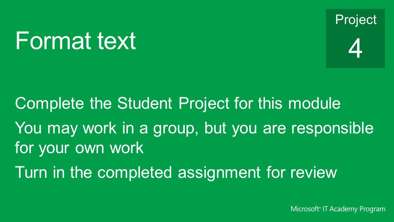 Format text 4