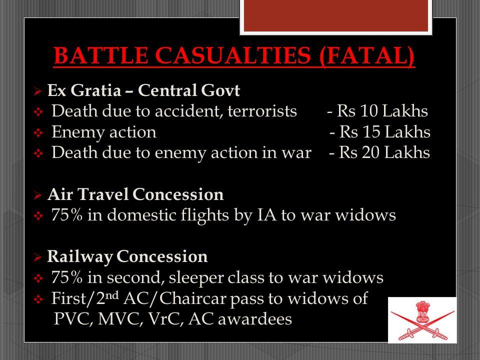 BATTLE CASUALTIES (FATAL)