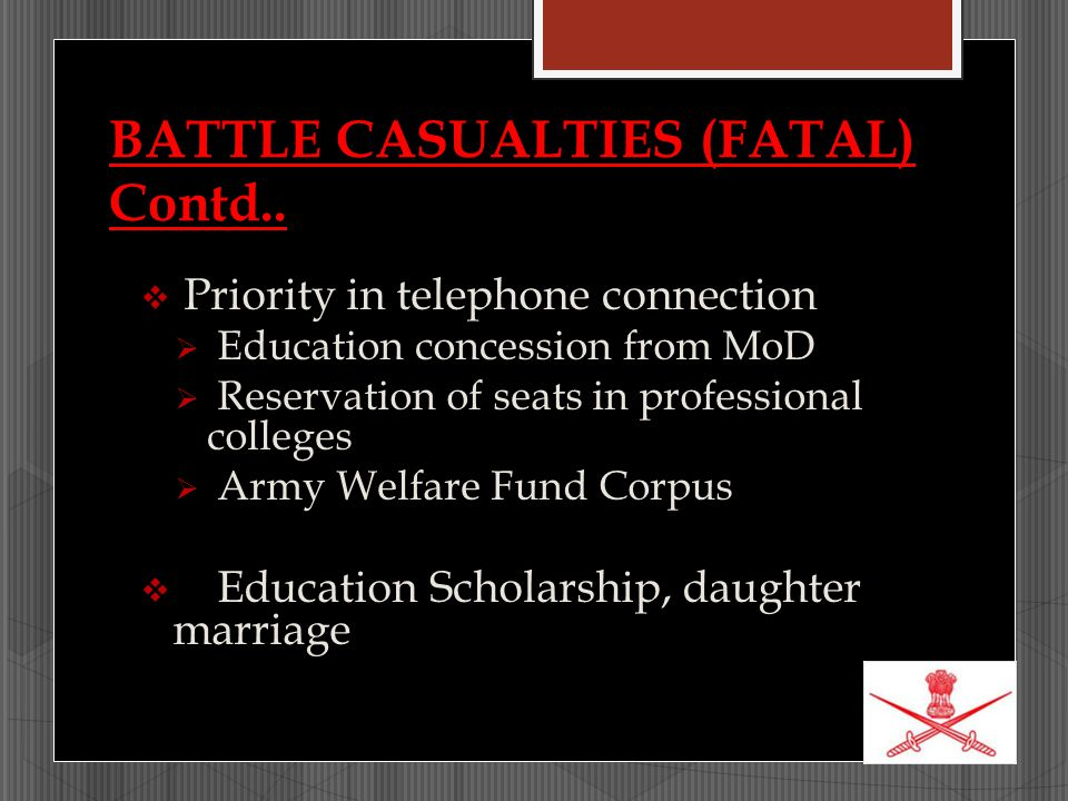 BATTLE CASUALTIES (FATAL) Contd..